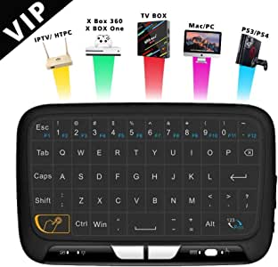 Teclado inalámbrico de Mano, PENKou H18 Android TV Air Remote Mouse 2.4GHz Panel táctil Mini Teclado para Smart TV Android TV Box PC Laptop: Amazon.es: Electrónica