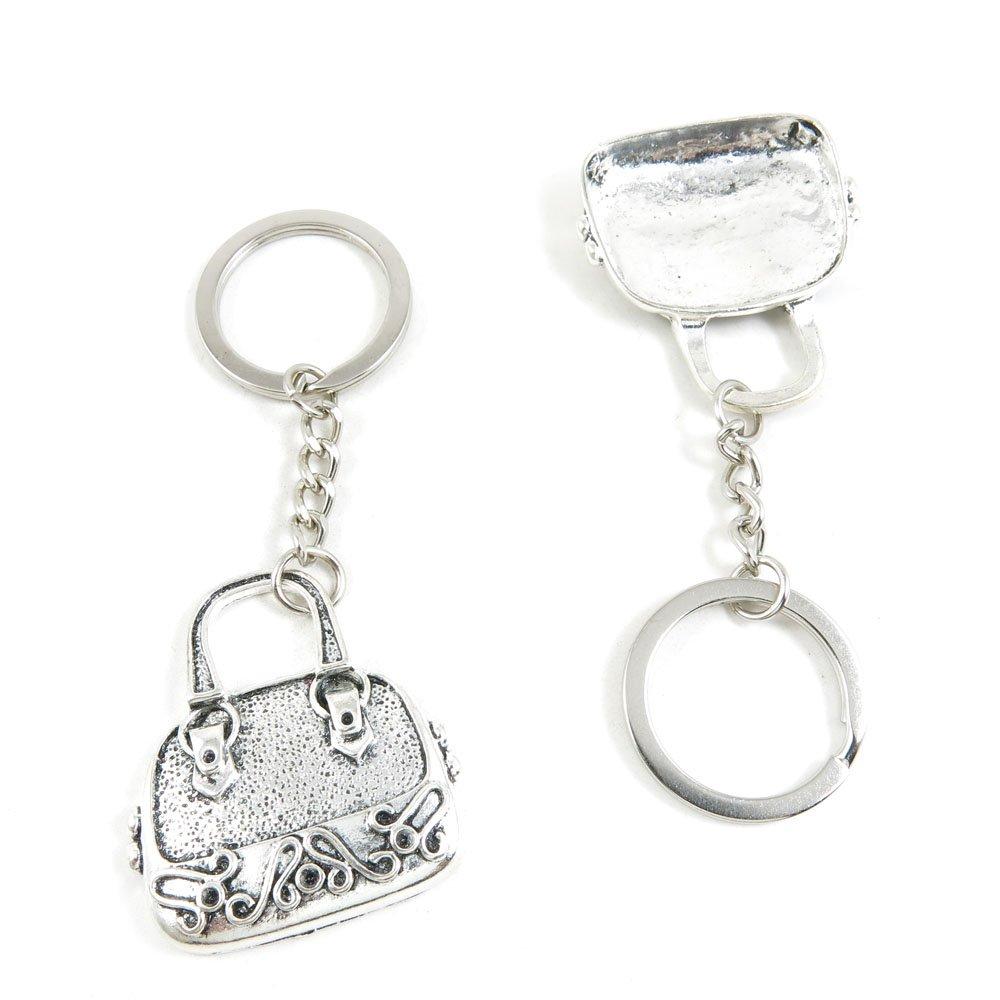 90 Pieces Fashion Jewelry Keyring Keychain Door Car Key Tag Ring Chain Supplier Supply Wholesale Bulk Lots Y8IM8 Handbag Purse Shoulder Bag