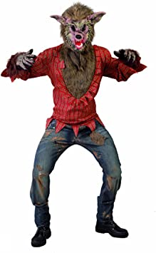 Amakando Traje Halloween Lobo Malvado Disfraz Hombre Lobo L 52/54 ...