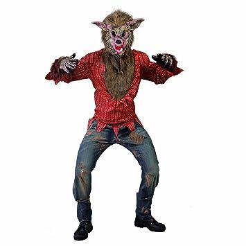 NET TOYS Disfraz Hombre Lobo Traje Halloween Lobo Malvado L ...
