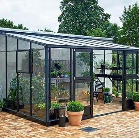 Invernadero de vidrio templado Véranda de 12, 9 m²: Amazon.es ...
