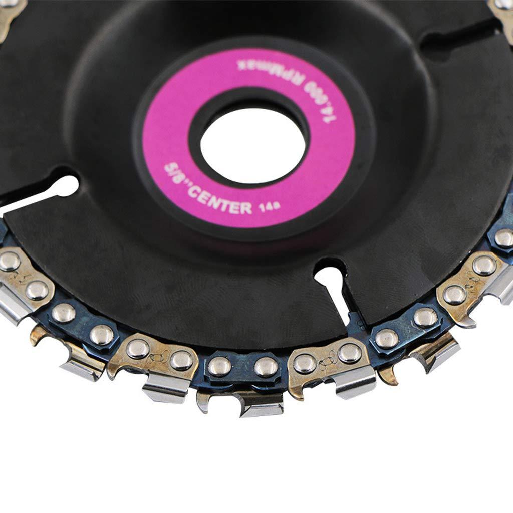 gomma dura affilatura 4 pollici Disco smerigliatrice angolare lama per sega a catena Yintiod 14 denti finitura incisione plastica legno