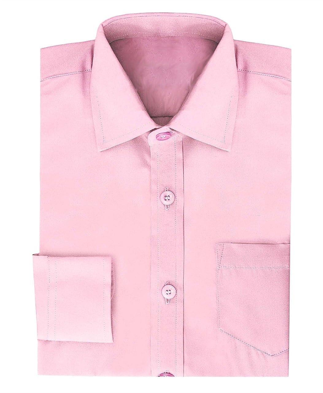 Ozmoint Boys Formal Prom Black /& Pink Long Sleeve Shirts