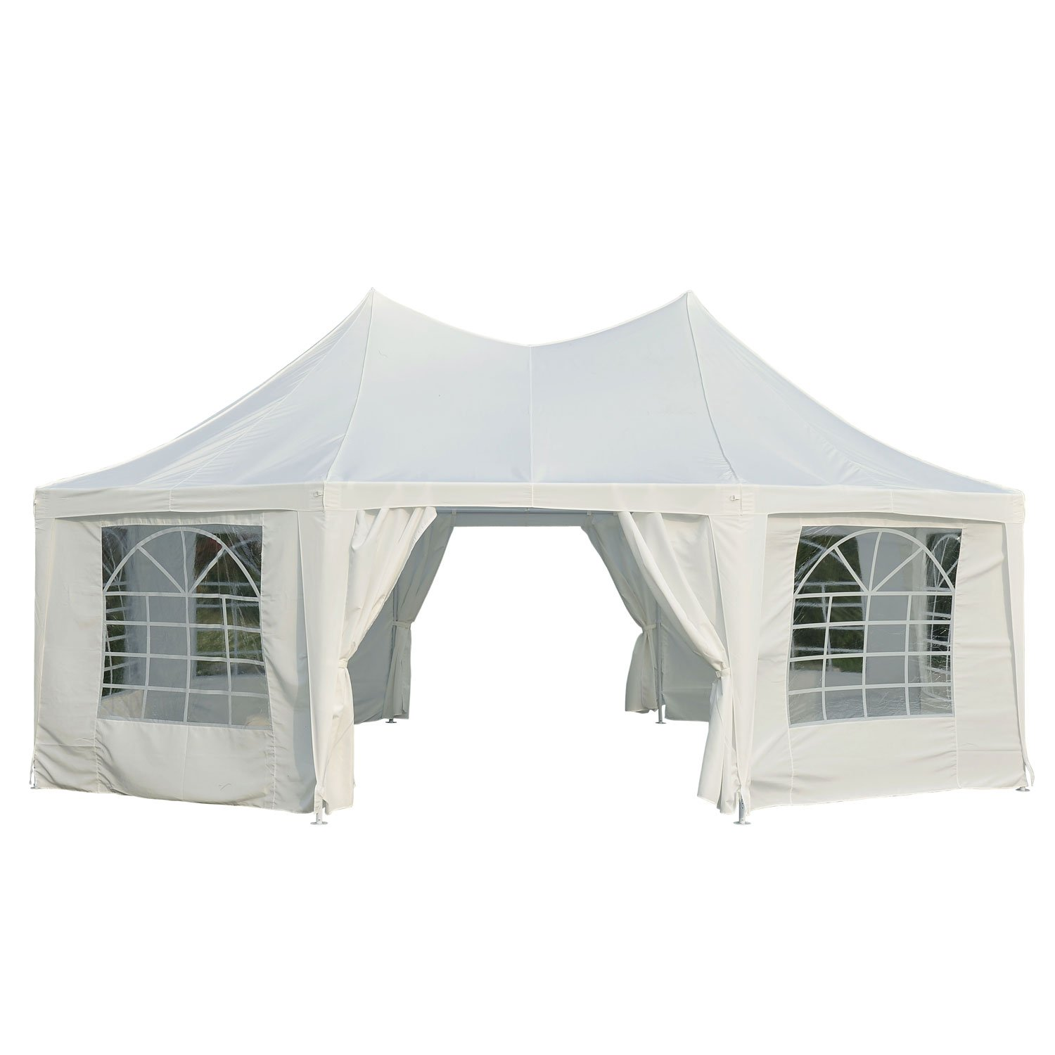 Outsunny 6.8x5M Large Octagonal Party Tent Gazebo Heavy Duty Wedding Marquee Tent Garden Pagoda Tent  sc 1 st  Amazon UK & Quictent 6.8x5 Meter Beige Octangle Festival Gazebo Party Tent ...