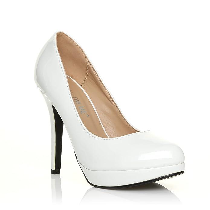 ccaab0a24d90c EVE - Chaussures à talons hauts - Plateforme - Blanc - 41  Amazon.fr   Chaussures et Sacs