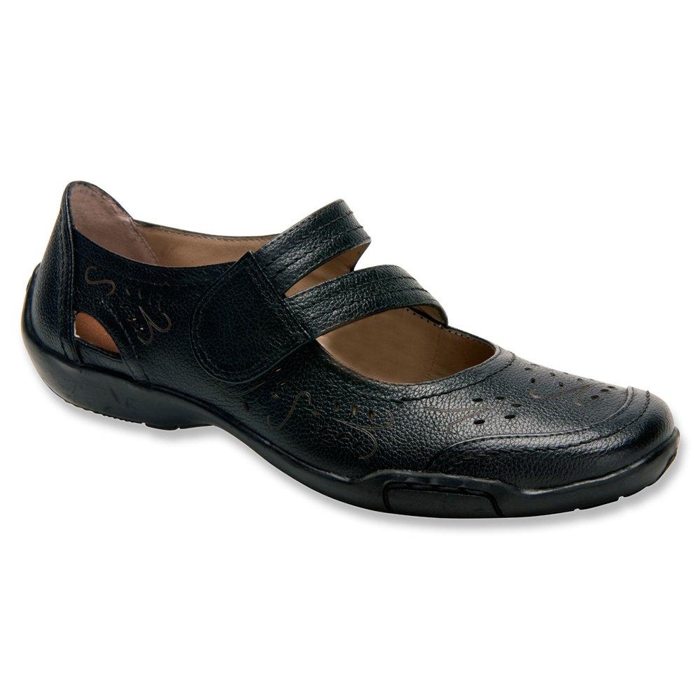 Ros Hommerson Chelsea Mary Jane Women's Slip On Shoes B00J2FLH5G 11.5 XW US Black