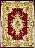 Persian Traditional Design rugs, Red 7′ x 10′ – Feet Tiba Collection Area rug – Perfect for any Room, Floor Carpet