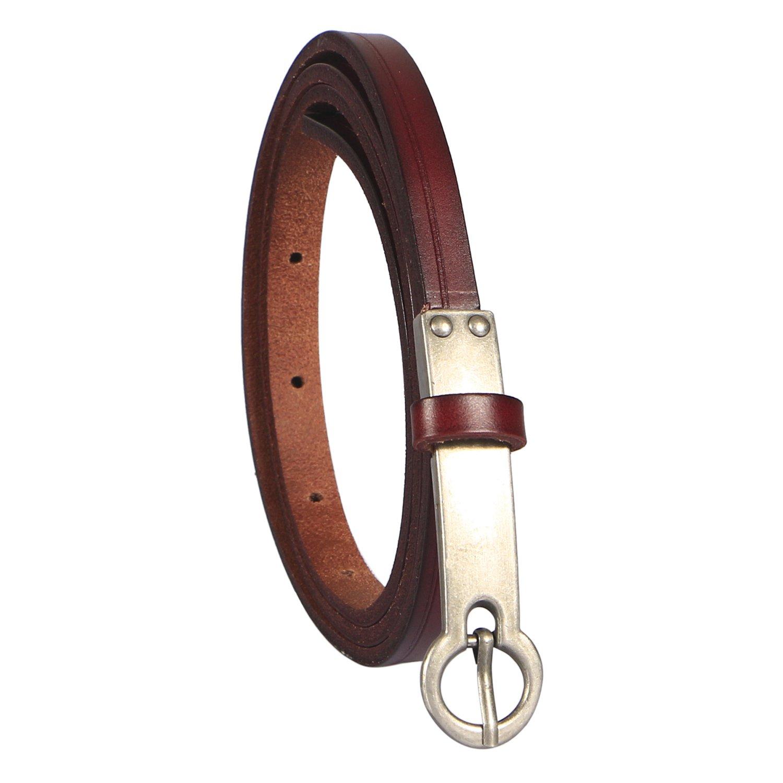 LeucosTicte Womens Width Skinny Elastic Leather Waist Belt Thin Belt