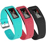 Mosstek for Garmin Vivofit Bands with Buckle, Colorful Silicone Fitness Replacement Accessory Bands for Garmin Vivofit (NOT for Garmin Vivofit 2)