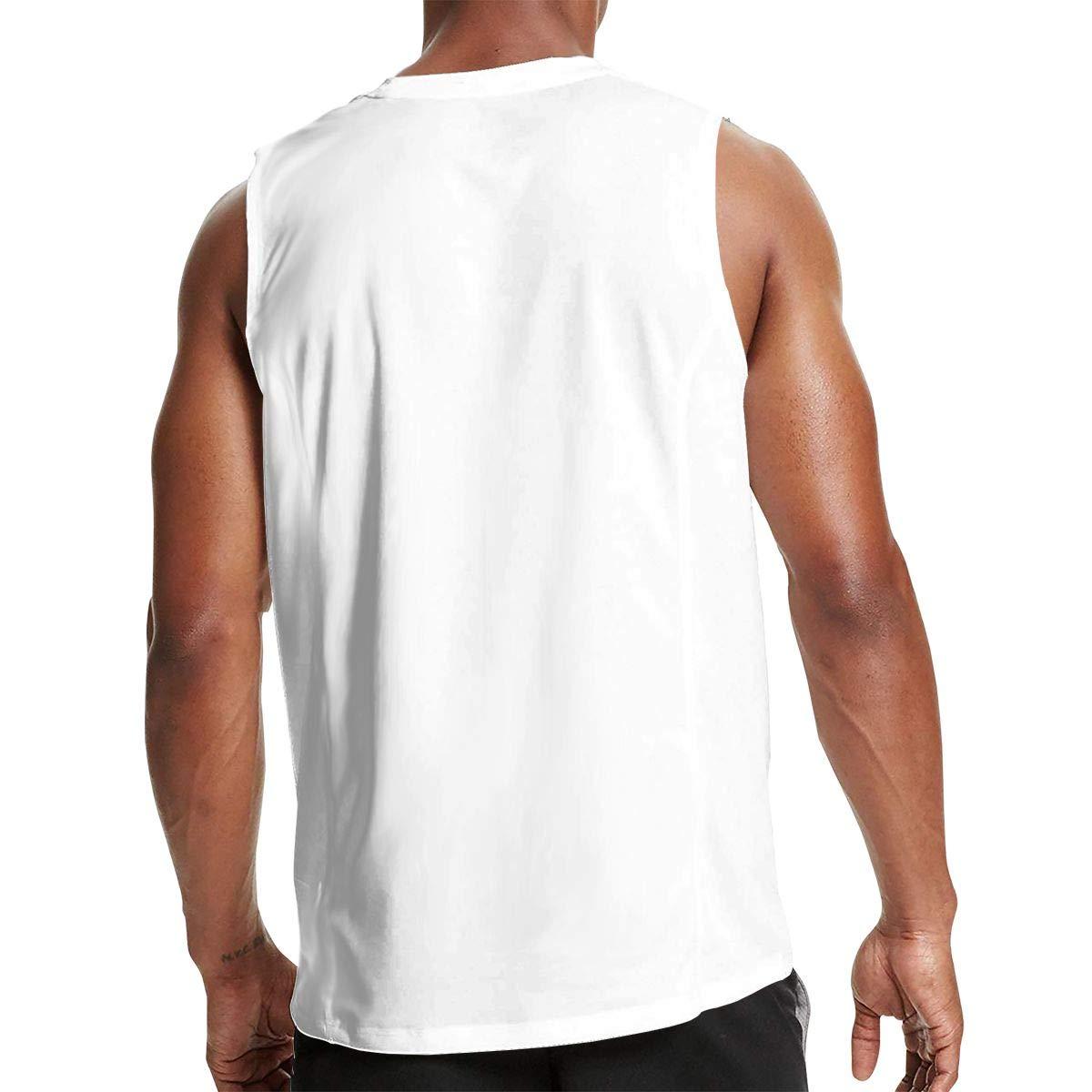 Mens Casual Sleeveless T-Shirt Cotton Short-Sleeve Tank DFGHJZH-L Escape Velocity Printed