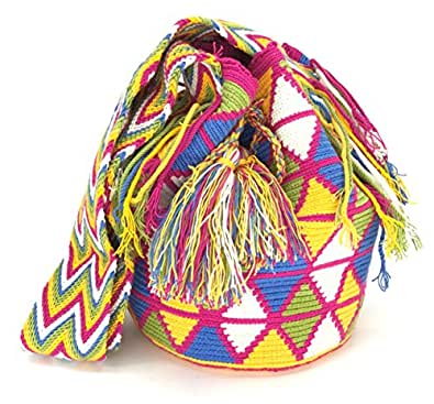 Mochila Wayuu, Bolsos Colombianos Artesanales DIBUJOS (GUAJIRA)