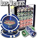 1000 Las Vegas Acrylic Poker Chip Set. 14 Gram Heavy Weighted Poker Chips.