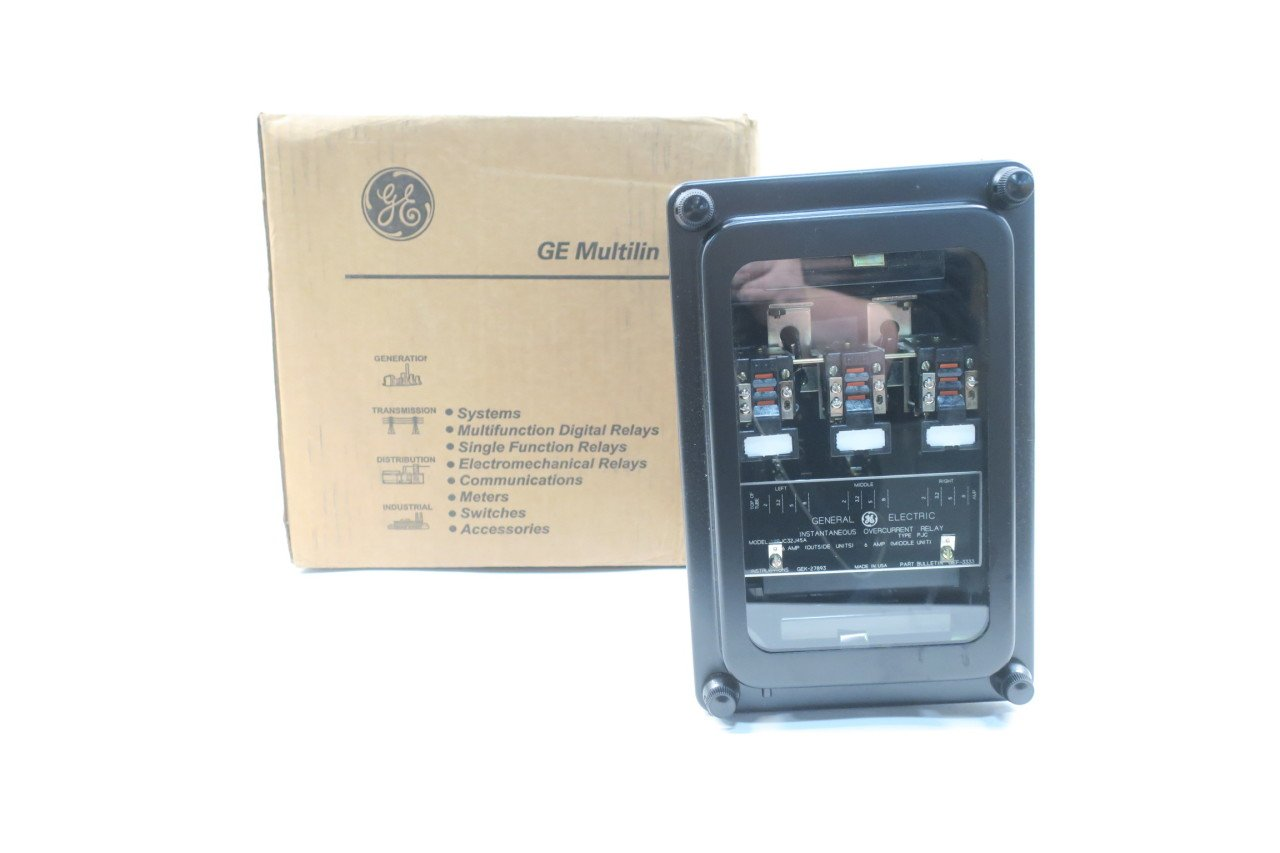 General Electric Ge 12pjc32j45a Instantaneous Electrical Overcurrent Relay D583403 Industrial Scientific