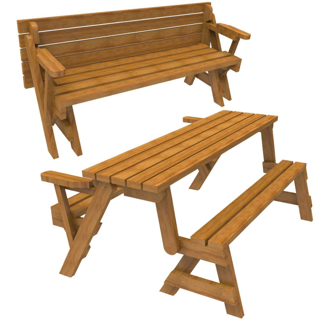 Enjoyable Woodworkersworkshop Woodworking Plan To Build A Convertible Folding Bench Picnic Table Not A Rta Kit Dailytribune Chair Design For Home Dailytribuneorg