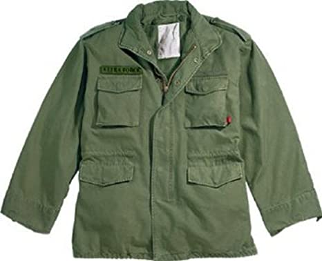 9ed7c1864f7 Image Unavailable. Image not available for. Color  Authentic Military  Vintage M-65 Field Jacket ...