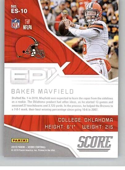 Amazon.com: 2019 Score Epix Season Red Football #10 Baker ...
