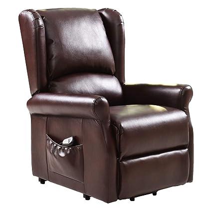 Incredible Amazon Com Nanapluz Brown Electric Lift Chair Recliner Frankydiablos Diy Chair Ideas Frankydiabloscom