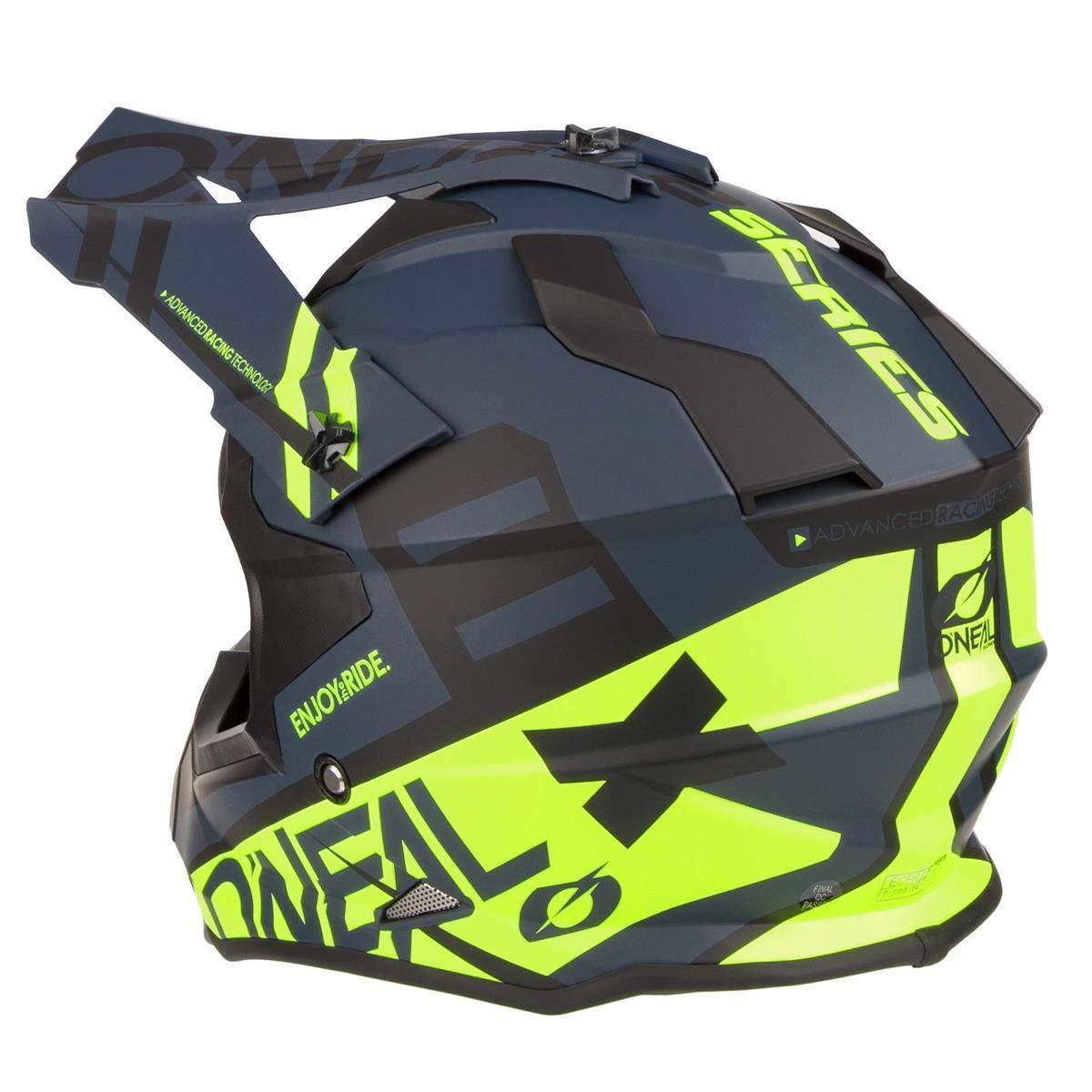 0200-213 Oneal 2 Series RL Spyde Motocross Helmet M Matt Black Hi-Viz