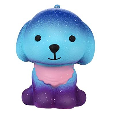 Bokeley Easter Squishies Galaxy Puppy Kawaii Soft Slow Rising Scented Animal Squishies Stress Relief Kids Toy (A): Home & Kitchen
