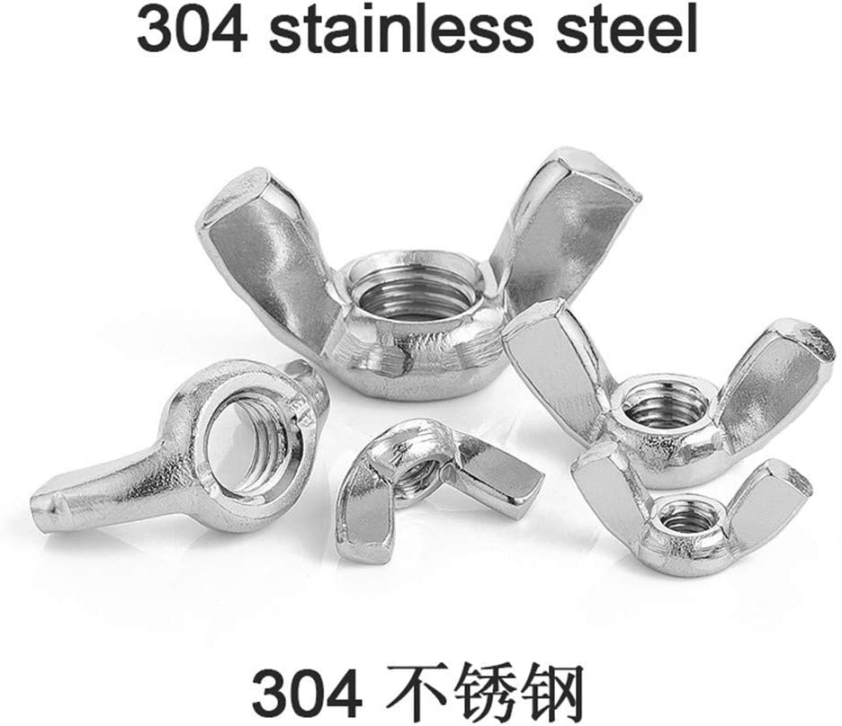 Color : 304 Stainless Steel, Size : M12 5pcs Hex Nuts 5-10pcs Butterfly Wing Nuts M3 M4 M5 M6 M8 M10 M12 Stainless Steel Wing Nuts Zinc Plated Hand Tighten Nut DIN315 Machine Screw Nuts