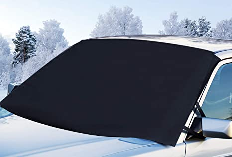 Car Snow Cover with Mirror Covers for Automobiles and Frost Build Up JUKSTG Windshield Snow Cover Ice Design Winter Summer Auto Sun ShadeProtects Windshield and Wipers from Snow