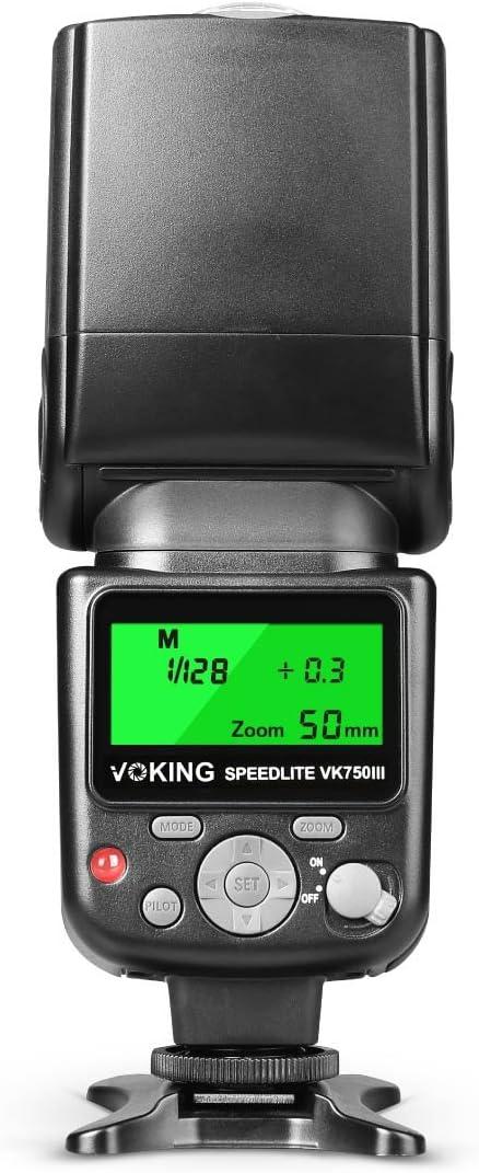 Voking VK750III C pantalla LCD E-TTL Speedlite TTL Flash para ...