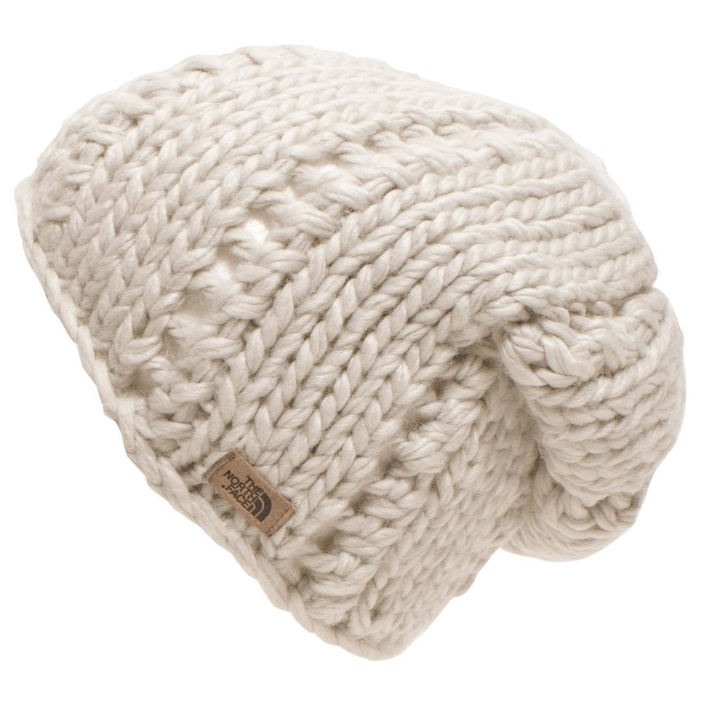 ced772bfd3f Amazon.com  The North Face Womens Chunky Knit Beanie - One Size Vintage  White  Clothing