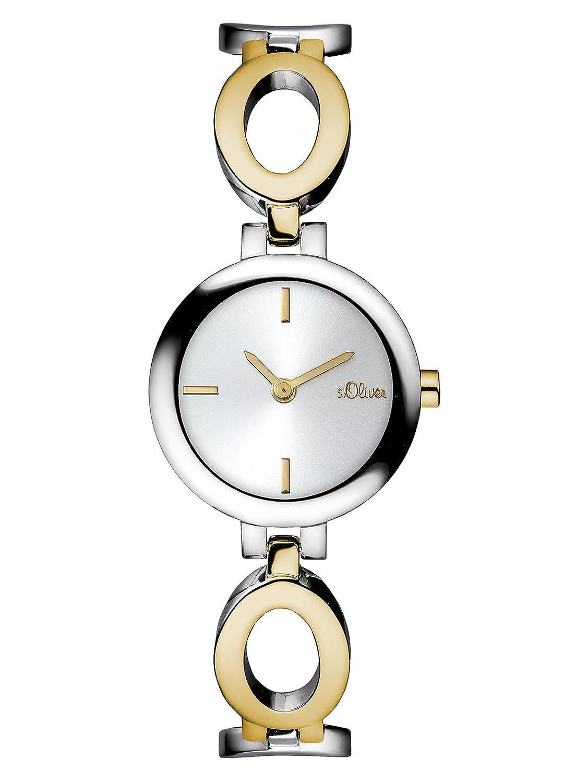 s.Oliver Damen-Armbanduhr XS Analog Quarz Edelstahl SO-2899-MQ