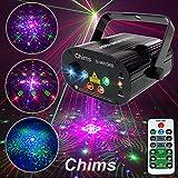 Chims DJ Laser Light Show Projector Red Green Blue Laser with LED 96 Patterns RGRB Color Decoration...