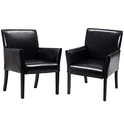 Outstanding Giantex Leather Reception Guest Chairs Set Office Executive Side Chair Padded Seat Ergonomic Mid Back Meeting Waiting Room Conference Office Guest Pdpeps Interior Chair Design Pdpepsorg