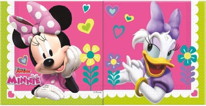 takestop/® Set 20 Pezzi TOVAGLIOLI di Carta per Feste Minnie Paperina Disney Land/_644 USA E Getta Festa Party Compleanno Nascita Battesimo