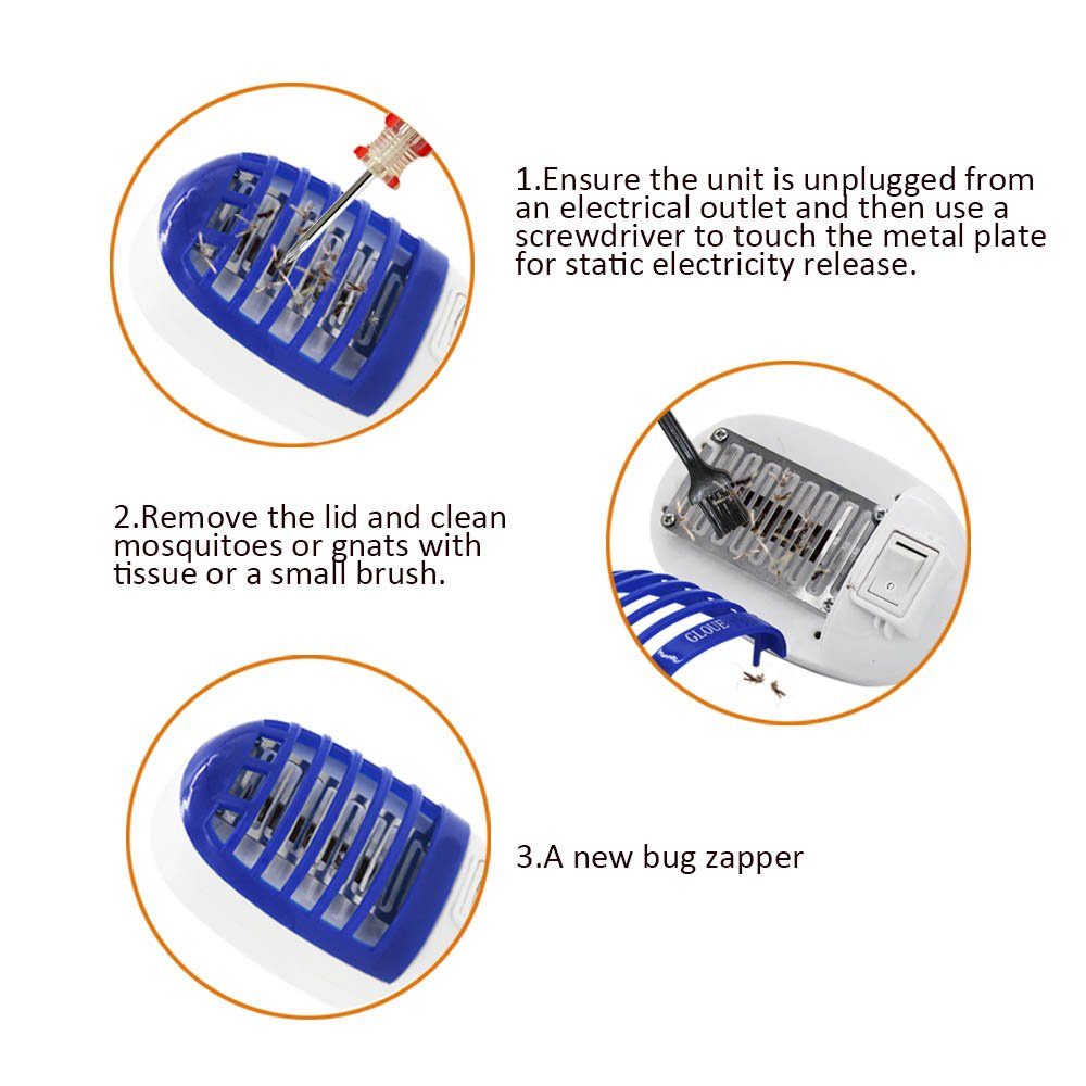Ocici Indoor Bug Zapper With Night Lamp Mini Electronic Insect Circuit Killer Mosquito Eliminates Flying Pests Patio Lawn Garden