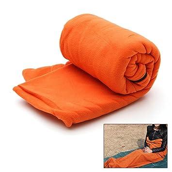 Pawaca Saco de dormir de forro polar con doble cremallera, ligero, cómodo con saco