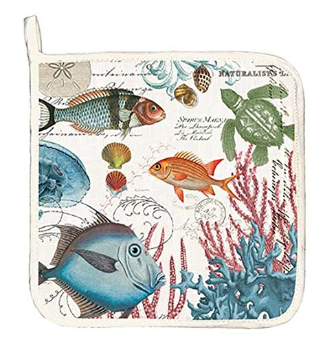 Michel Design Works Cotton Potholder, Sea Life by Michel Design Works