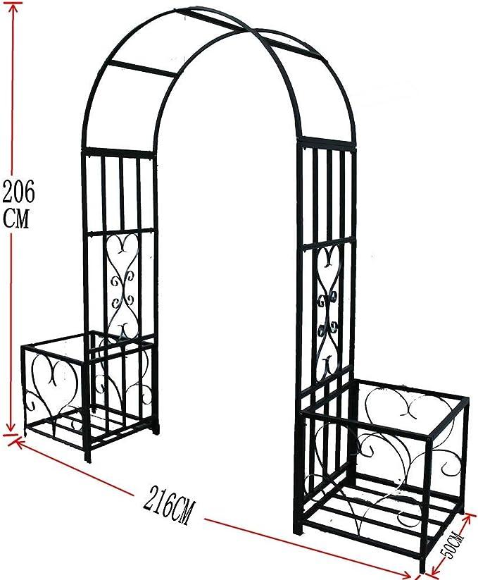XCJJ Arco de jardín de arte de hierro, arco de pérgola de ...
