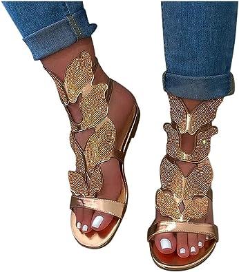 Slip on Toe Flache Sandalen Damen Wildleder Sandalen Quaste Strand Sandale Bequem Pantoletten Peep Toe Sommerschuhe