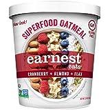 Earnest Eats Gluten-Free Superfood Oatmeal, Quinoa, Oats & Amaranth, Vegan, Healthy Snack, American Blend, 2.35oz Cup, 12-Pac