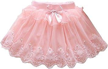 24station [B] Falda de tutú para niña Falda de Princesa de Tul Falda ...
