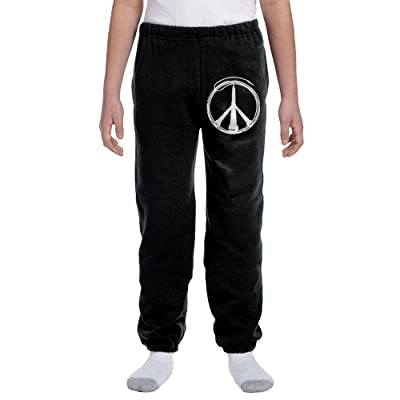 Luosi-77 Teenager Boys Soft/Cozy Sweatpants Music Peace Active Pants