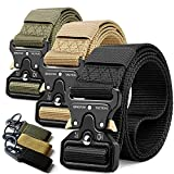 RONGQI 3Pack Tactical Belt,Military Style