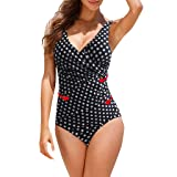 Women's Vintage Padded Push up One Piece