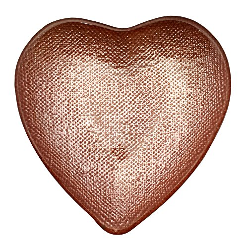 Red Pomegranate 7458-3 Heart Glass Plate, Rose Gold