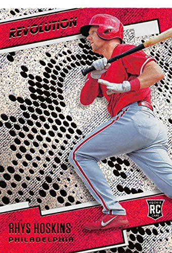 - 2018 Panini Chronicles Revolution Rapture #24 Rhys Hoskins Philadelphia Phillies Blaster Exclusive Trading Card