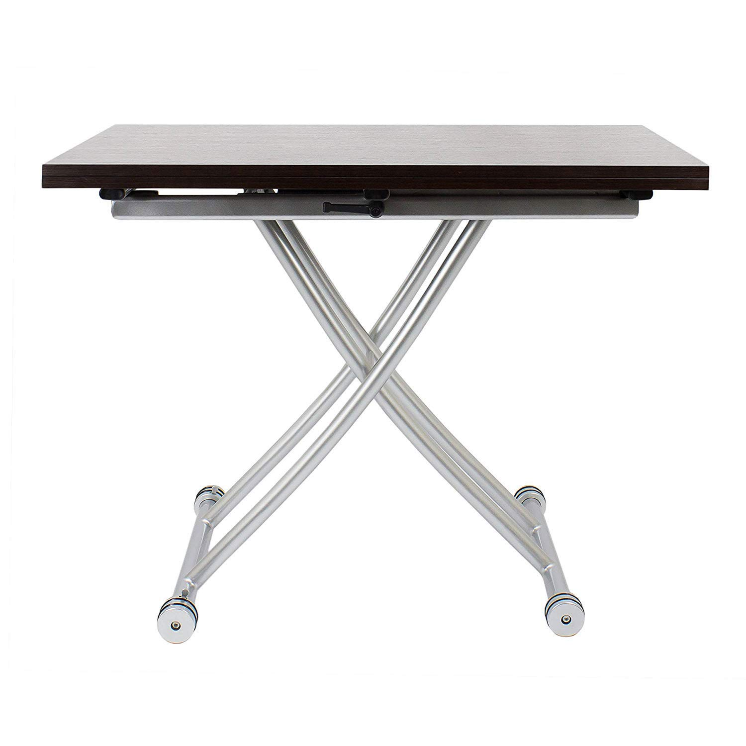 SpaceMaster 2219 X Convertible Adjustable Coffee and Dining Table Walnut Wood