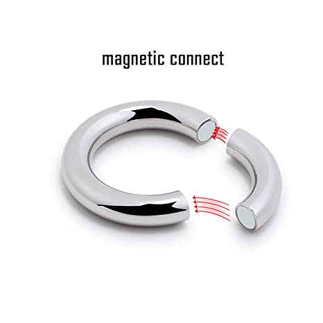 ... Stainless-Steel Penis Ring Sex Toys Magnetic Connect Cock-Ring Delay Fun Male Sperm Cocking Ring Male Chastity For Adult Game 30mm: Musical Instruments