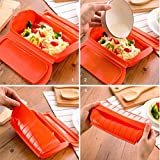 Amazing Silicone Steam Case Steamer Kitchen Gadget Tool for Oven Microwave without Draining Tray