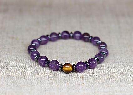 Amazon.com: ForShop Fashion Purple Quartz Bracelet Nature ...