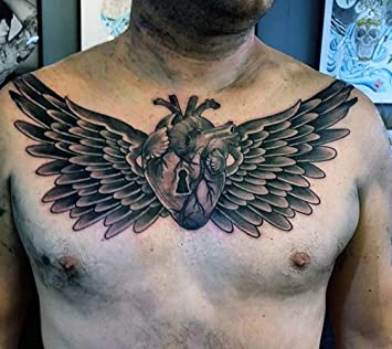 Amazon Com Temporary Tattoos For Men Large Chest Black Wing Tattoos Cool Fake Stickers Unique Temporary Tattoos Beauty