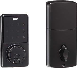 AmazonBasics Electronic Deadbolt Door Lock, Modern, Oil Rubbed Bronze