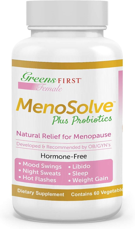Amazon Com Greens First Female Menosolve Plus Probiotics Natural Relief For Menopause 60 Capsules Health Personal Care